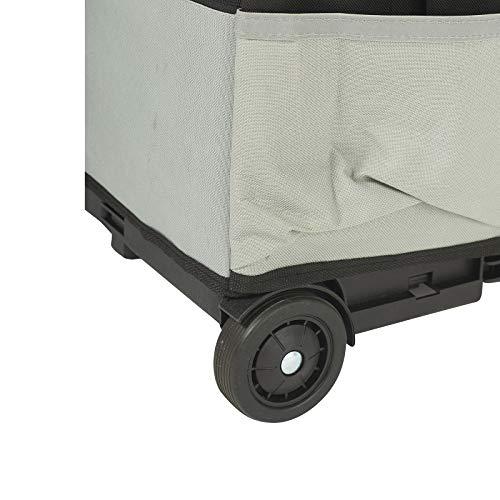 ECR4Kids MemoryStor Universal Rolling Cart and Organizer Bag Set, Black by ECR4Kids (Image #3)
