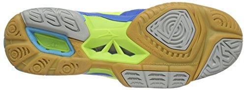Mizuno Wave Stealth 3 - Zapatillas de baloncesto Hombre Azul (NeoYellow/Blue/BlueAtoll)