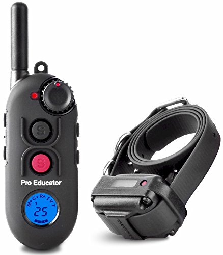 Educator PE-900 Pro 1/2 Mile E-Collar Remote Dog Training Collar With Vibration, Tapping Sensation and Pavlovian Stimulation by Educator