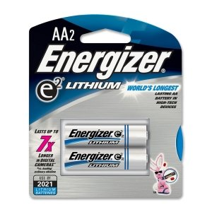 Energizer L91BP2 Lithium Battery, AA, 2/PK, SR