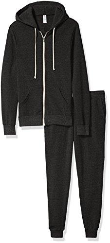 - Alternative Men's Warm Up Suit, Eco black, XL