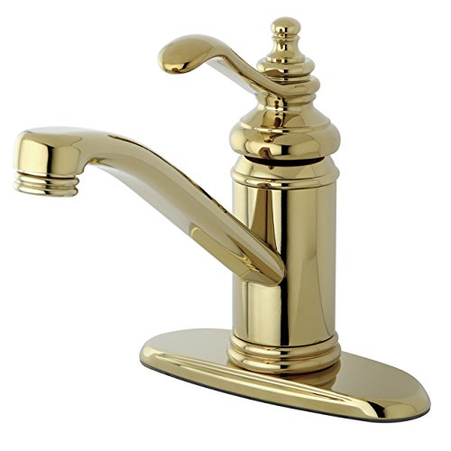 Kingston Brass KS3402TL Templeton 4-Inch Single Handle Centerset Lavatory Faucet with Push Up Drain, Polished Brass from Kingston Brass