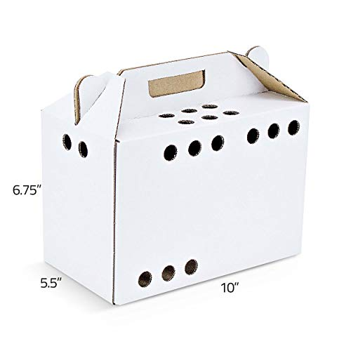 (Cardboard Pet Carriers for Small Animals 12/Case)