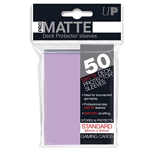Ultra Pro PRO-Matte Deck Protector Sleeves for Magic, Dragon Ball Super and Pokemon - Lilac (50 - Matte Lilac