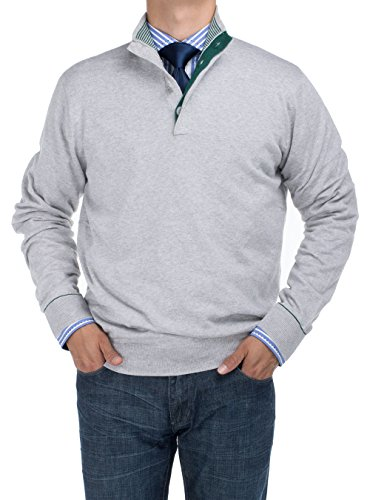 DTI BB Signature Men s Mock Neck 1 4 Button Sweater Relaxed Fit (Large ff86e48d8