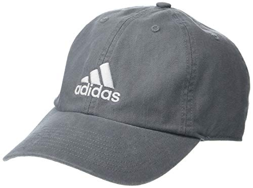 (adidas Men's Ultimate Relaxed Adjustable Cap, Grey/White, One Size)