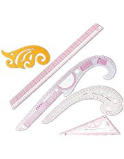 Cleana Arts® 5 Pcs Clothing Measuring French Curve Pattern Grading Rulers Pattern Styling Design Craft Sewing Tool Set
