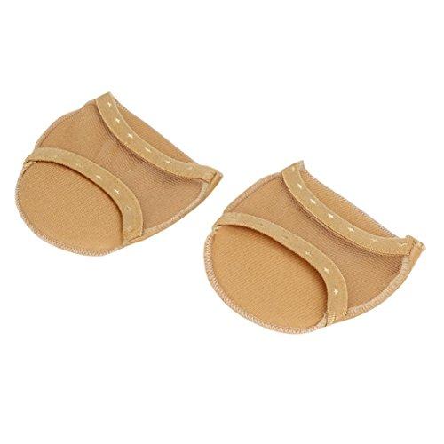 1Pair Forefoot Invisible High Heeled Shoes Slip Resistant Half Yard Pads Khaki! 62ANg