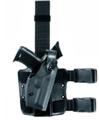 Safariland 6004 Tactical Holster Glock 17, 22, 31, with M3, M6, Right Hand, Black (6004 Tactical Leg Holster)