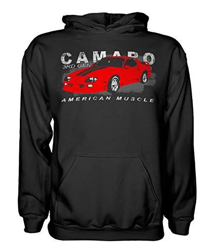 Aggressive Thread 3rd Gen Chevy Camaro American Muscle Hoodie Sweatshirt