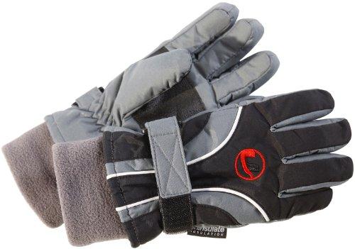 Ultrasport Kinder Skihandschuhe, schwarz/grau, S, 48254