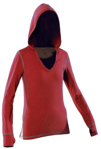 Women's Yoga Hoody (Medium, Red) by KINISI(TM)