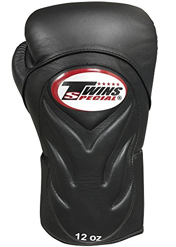 Twins Special Embossed Sparring Gloves (12oz, - Black Twins Boxing Gloves