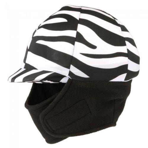 (Q&A SUPPLY Winter Riding Helmet Cover - Zebra)