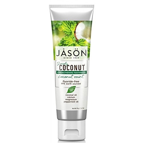 Jason Simply Coconut Strengthening Toothpaste Coconut Mint Fluoride-Free