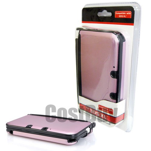 CostBuy Aluminum Case Compatible With Nintendo 3DS XL, Pink