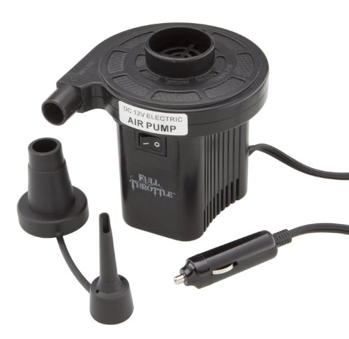 Absolute Outdoor Full Throttle Compact 12V Cigarette Lighter Air Pump (Black) by Absolute Outdoor