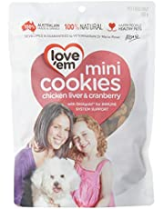 Love 'Em Mini Cookies Chicken & Cranberry 300g, 1 Pack, Small, Adult