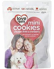 love'em Mini Cookies Chicken & Cranberry 300g, 1 Pack