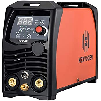 HZXVOGEN Tig Welder Pulse 200A 220V Arc D/C Stick MMA Inverter IGBT Digital Welding Machine - 60% Ducty Cycle High Frequency Digital Control