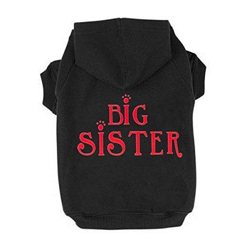 Generic Fashion Pet Dog Cat Sweater Clothes Big Sister Print Hoodie Coat Sweatshirt