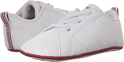 adidas Girls' VS Advantage Crib Sneaker, White/White/Bold Pink, 1 Medium US Infant Adidas Leather Crib Shoes