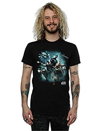 Star Wars hombre Rogue One Poster Camiseta Small Negro