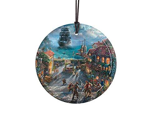 Trend Setters Disney Thomas Kinkade Pirates of The Caribbean Starfire Prints Hanging Glass