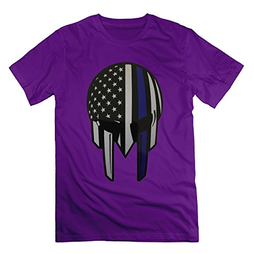 American Thin Blue Line Flag Decal Purple Men's Sport T Shirt For Men Size XL