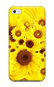 Juliam Beisel Case Cover Protector Specially Made For Iphone 5c Cool Sunflowers