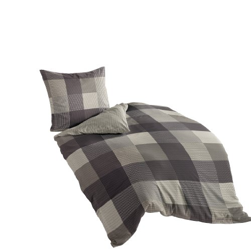 632302 mako satin bettwsche dessin 135 x 200 cm und 80 x 80 cm kitt 02. Black Bedroom Furniture Sets. Home Design Ideas