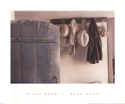 (Blue Door by Vicki Reed - 24x20 Inches - Art Print Poster )