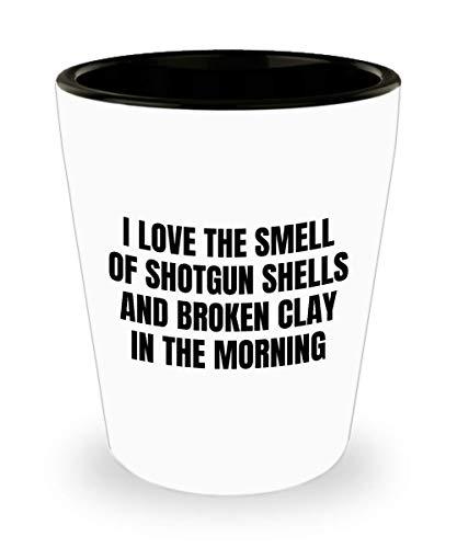 Funny Clay Shooting Shot Glass - Trap Shooting Gift - Skeet Shooting Gift - Clay Pigeon Shooting - Smell Of Shotgun Shells