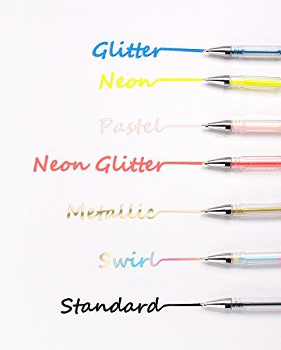 Feela 260 Colors Gel Pens Set 130 Unique Gel Pen Plus Set 130 Refills for Adult Coloring Books Drawing Art Markers by Feela (Image #7)