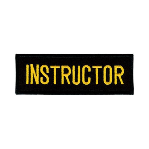 No Border Tiger Claw Rectangular Instructor Patches