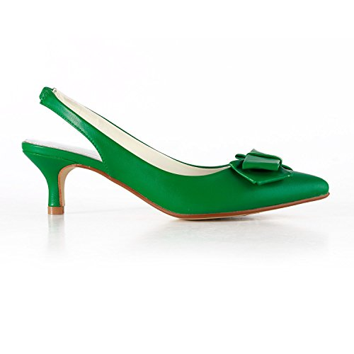 Sling Backs 5cm Green Miyoopark Damen Heel 6TwExq