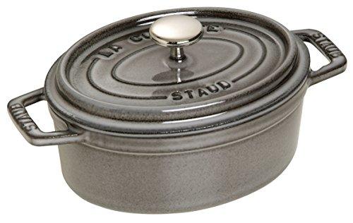 Staub Mini Oval Dutch Oven 1-quart Graphite Grey
