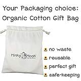 Minky Mooh Flat Head Baby Pillow Set - 2 Organic