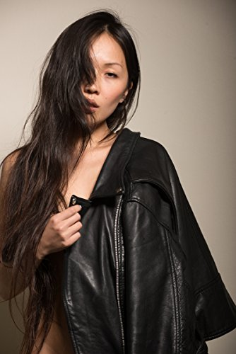 Can suggest Nude asain in black leather sorry, that