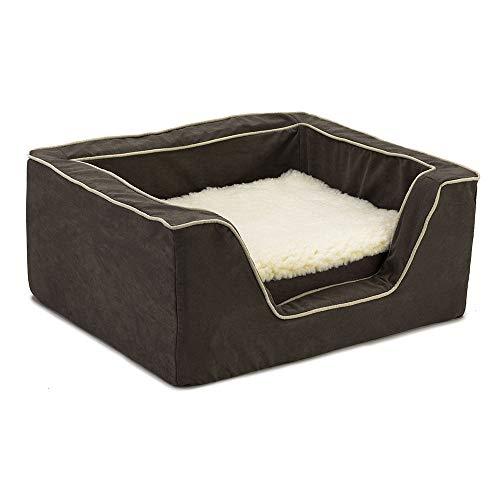 Snoozer Memory Foam Luxury Square Pet Bed, Large, Black/Herringbone Review