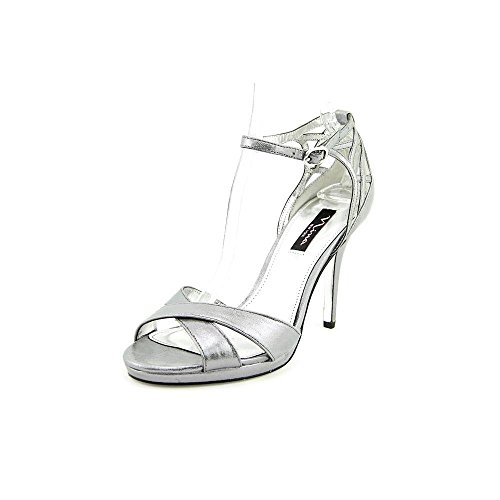 Nina Rebbie Damen US 10 Silber Sandale EU 40