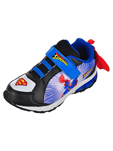 Superman Boys' Sneakers - Black/Blue, 13 Youth