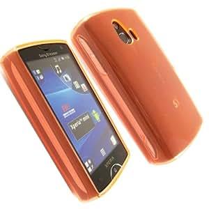 Silicona Caso Cubrir Concha Para Sony Ericsson Xperia Mini ST15i / Orange