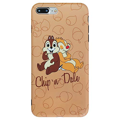 Ultra Slim Soft TPU Brown Chip and Dale Case for iPhone 7Plus 8Plus 7+ 8+ Large Size Squirrel Nuts Disney Cartoon Protective Cute Lovely Special Classic Gift Kids Teens Girls Boys