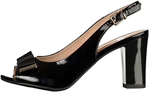 pour sandales femmes noir 28314 Caprice à talons xAwCIC5qX