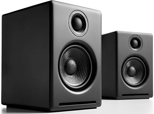 Audioengine A2 Plus 60W Powered Desktop Speakers, Built in 24Bit DAC and Analog Amplifier (Black)