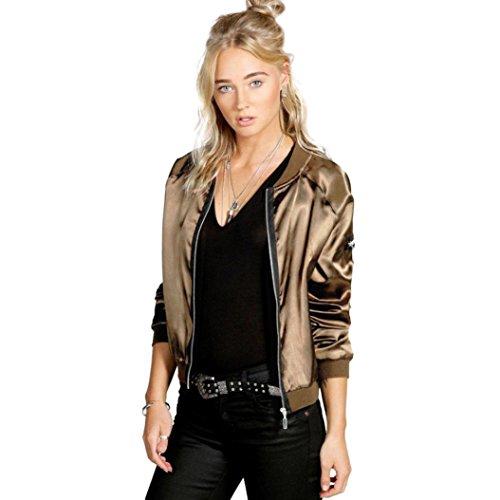 Women Jacket,Laimeng Fashion Casual Zipper Vintage Blazer Jacket Coat Outwear (Yellow, M)