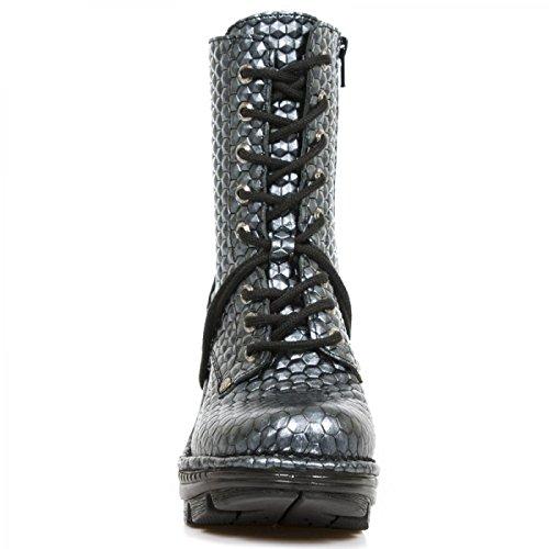 New Rock Støvler M.neotr006-c1 Gotiske Hardrock Punk Dame Stiefelette Stål Farvet tCQgndguh