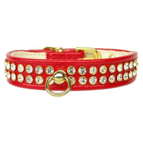 Mirage Pet Products No.72 Dog Collar, 10-Inch, Red