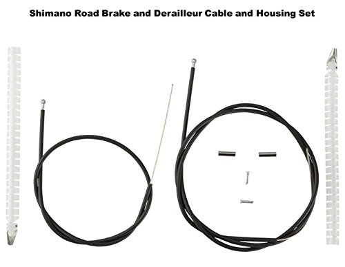 Shimano Road Brake and Shifter Cable Set Housing Included, Black, Road Bike Kit by SHIMANO (Image #1)